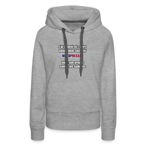 nordpresse - Sweat-shirt à capuche Premium pour femmes
