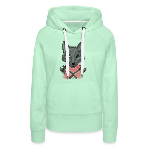 Wolf - Sweat-shirt à capuche Premium pour femmes
