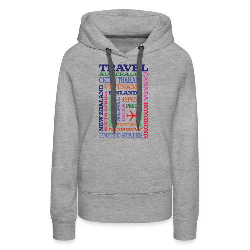 Travel Places design - Naisten premium-huppari