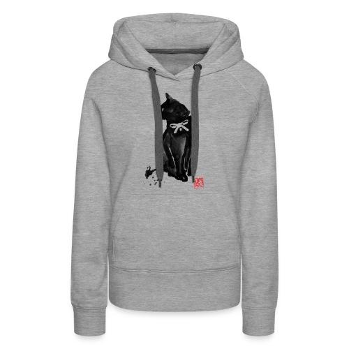 chat noeud - Sweat-shirt à capuche Premium pour femmes