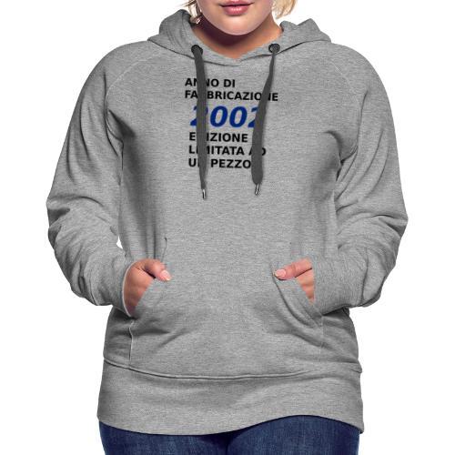 18 anni compleanno - Felpa con cappuccio premium da donna