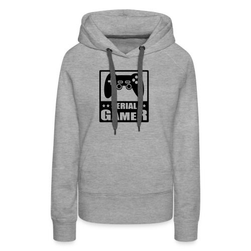 serial gamer - Sweat-shirt à capuche Premium pour femmes