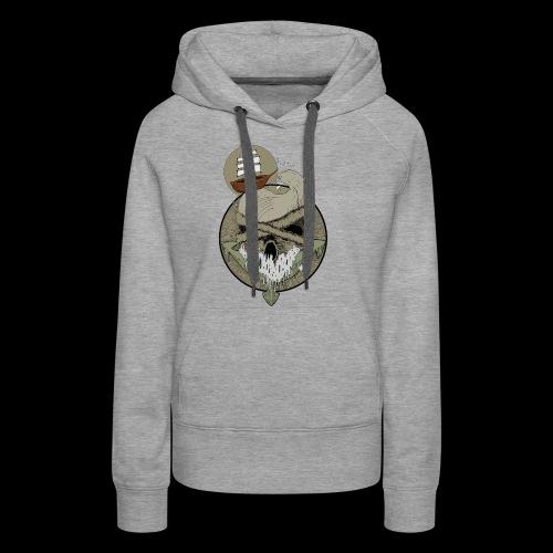 Ancre skull - Sweat-shirt à capuche Premium pour femmes