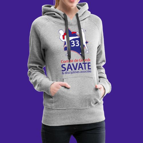 Comité Savate 33 - Sweat-shirt à capuche Premium pour femmes