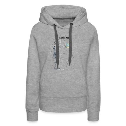 Tourist Man - Sweat-shirt à capuche Premium pour femmes