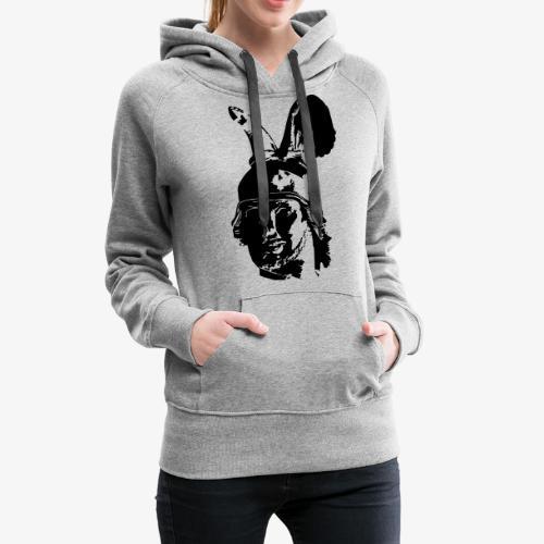 Kopf des Hermannsdenkmals - einfarbig, schlicht - Frauen Premium Hoodie