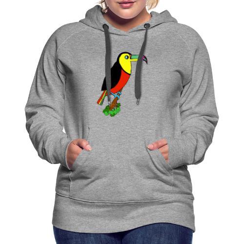 Le toucan - Sweat-shirt à capuche Premium pour femmes