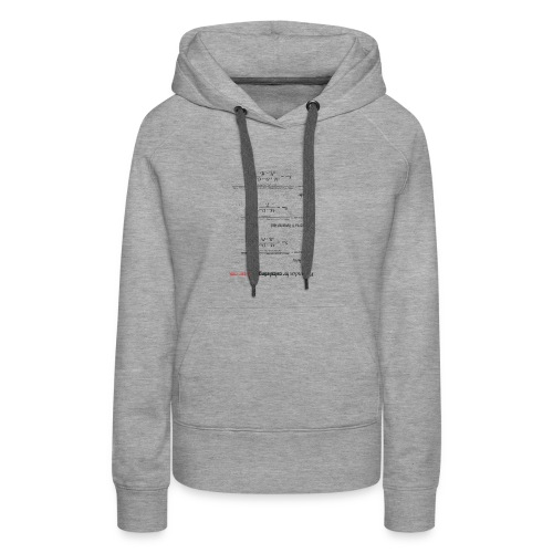 Formulas for calculating steps-per-mm (upturned). - Women's Premium Hoodie