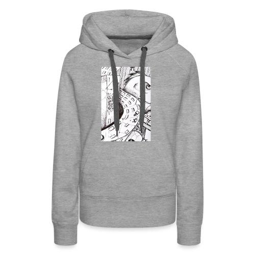 detail bird - Sweat-shirt à capuche Premium pour femmes