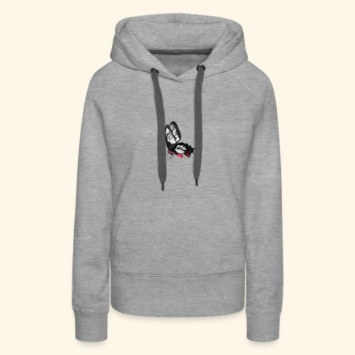 Sommerfugl - Dame Premium hættetrøje