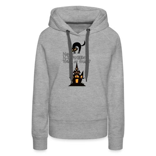 CAT LOVE CHAT AMOUR HALOWEEN - Sweat-shirt à capuche Premium pour femmes