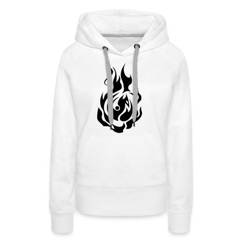 feu - Sweat-shirt à capuche Premium pour femmes