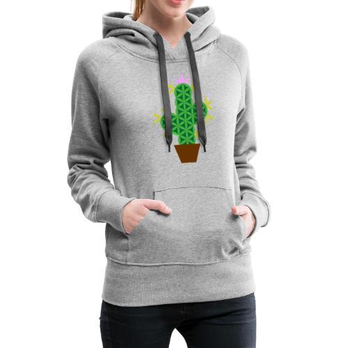 The Cactus Of Life - Sacred Plants - Women's Premium Hoodie