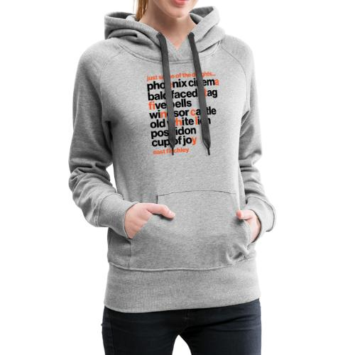 Just some of the delights of East Finchley - Women's Premium Hoodie