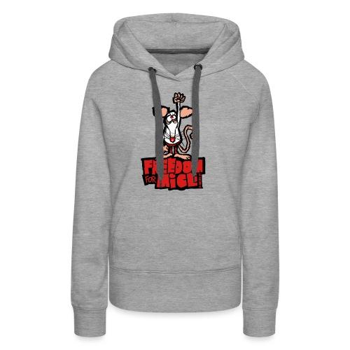 Freedom for mice - Sweat-shirt à capuche Premium pour femmes