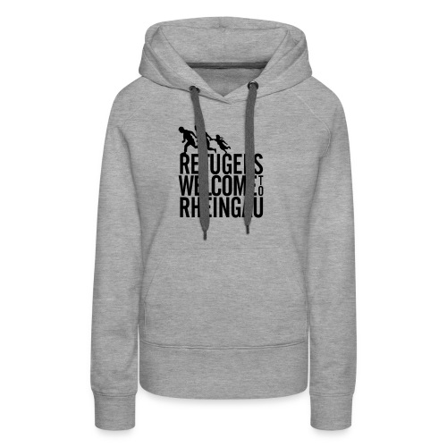 Refugees Welcome to Rheingau Pullover Front&Back - Frauen Premium Hoodie