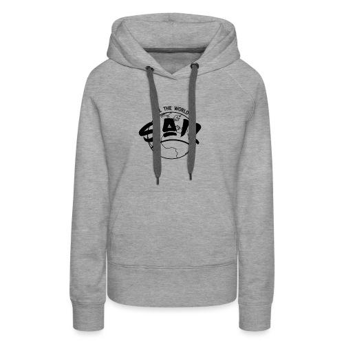 planette_terre_SAIL_ - Sweat-shirt à capuche Premium pour femmes