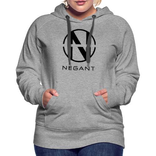 Black Negant logo - Dame Premium hættetrøje