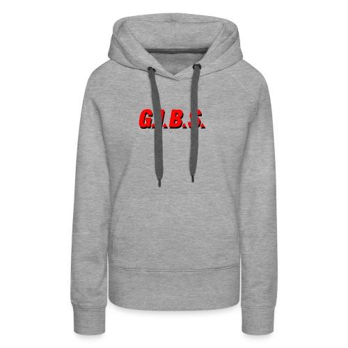 Logo Gibs - Sweat-shirt à capuche Premium pour femmes