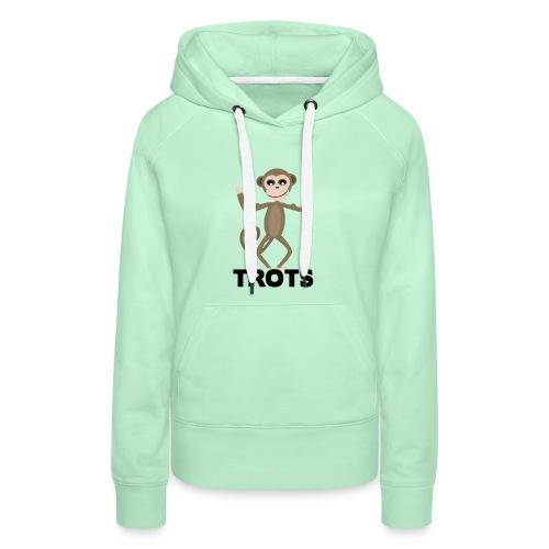 apetrots aapje wat trots is - Vrouwen Premium hoodie