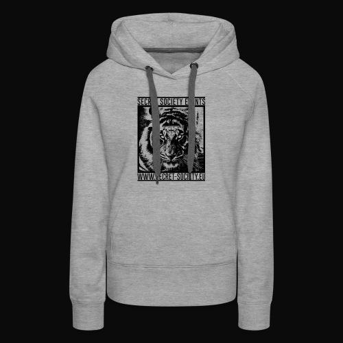 TigerdesignALLBACKNOWHITE png - Frauen Premium Hoodie