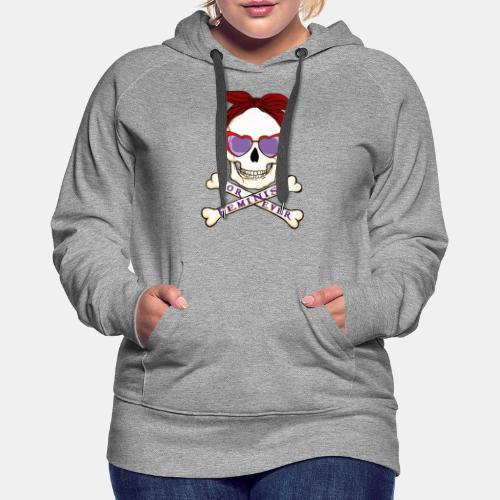 Feminist skull - Sudadera con capucha premium para mujer