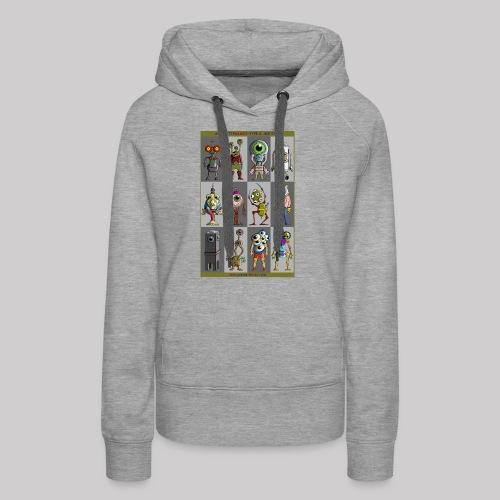 ALIEN TYPOLOGY TYPE 3: BIGEYES - Sweat-shirt à capuche Premium pour femmes