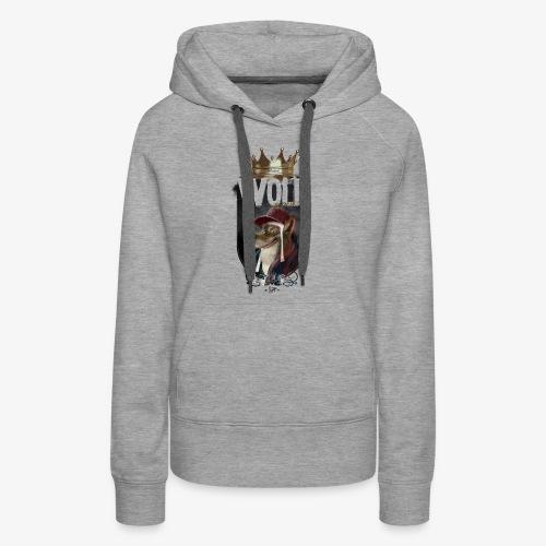 wolf - Sudadera con capucha premium para mujer