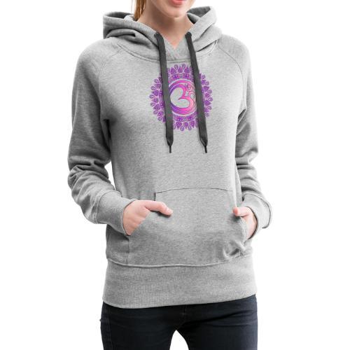 Yoga OM Zeichen Tshirt Ethno Style - Frauen Premium Hoodie