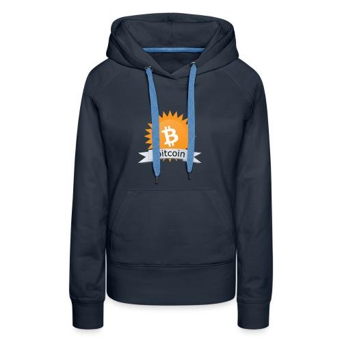 Bitcoin logo - Vrouwen Premium hoodie