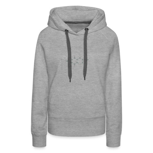 Molecuul MDMA - 'Where is Molly?' - Vrouwen Premium hoodie