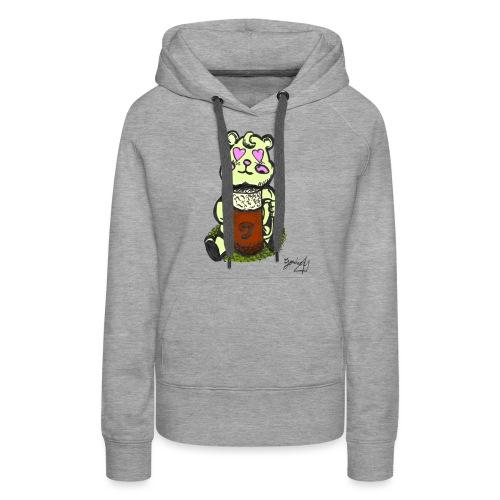 Ours Amoureux AngelerasCorp - Sweat-shirt à capuche Premium pour femmes