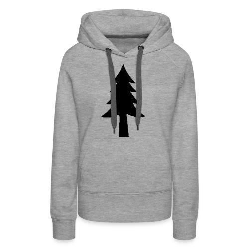 Sapin unicolor - Sweat-shirt à capuche Premium pour femmes