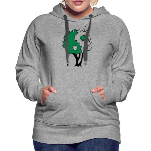 Yin Yang Arbre - Sweat-shirt à capuche Premium pour femmes
