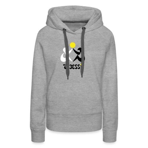 Logo Tebessy Soleil - Sweat-shirt à capuche Premium pour femmes