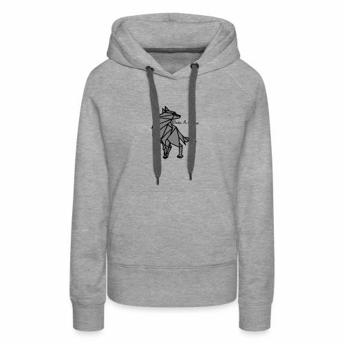 loup l'hiver vient - Sweat-shirt à capuche Premium pour femmes
