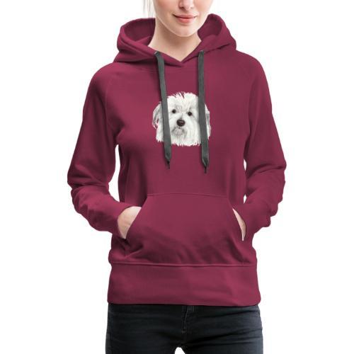coton-de-tulear - Dame Premium hættetrøje