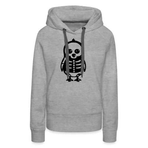 Pingouin Squelette - Sweat-shirt à capuche Premium pour femmes