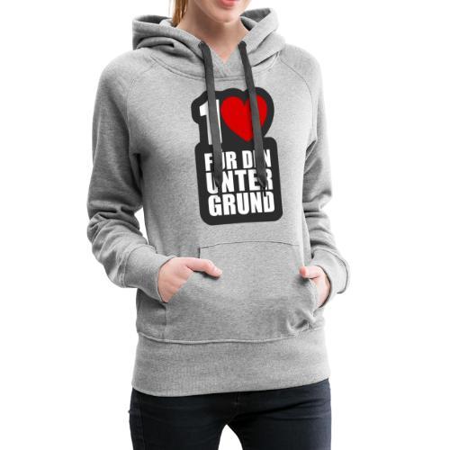 1 Herz für den Untergrund - Logo grau - Frauen Premium Hoodie