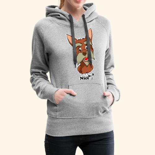 Nice Dogs schnauzer 2 - Felpa con cappuccio premium da donna