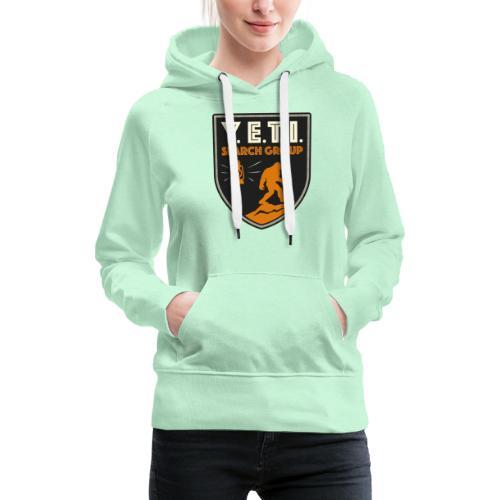 Blason Yeti Search Group - Sweat-shirt à capuche Premium pour femmes