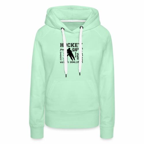 Puck slap victory - Sweat-shirt à capuche Premium pour femmes