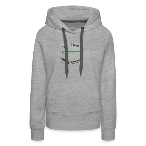 Réveil en cours ! - Sweat-shirt à capuche Premium pour femmes
