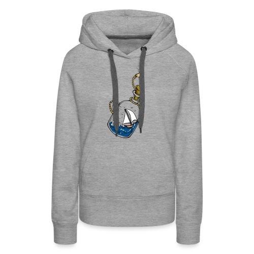 bouteille à la mer - Sweat-shirt à capuche Premium pour femmes