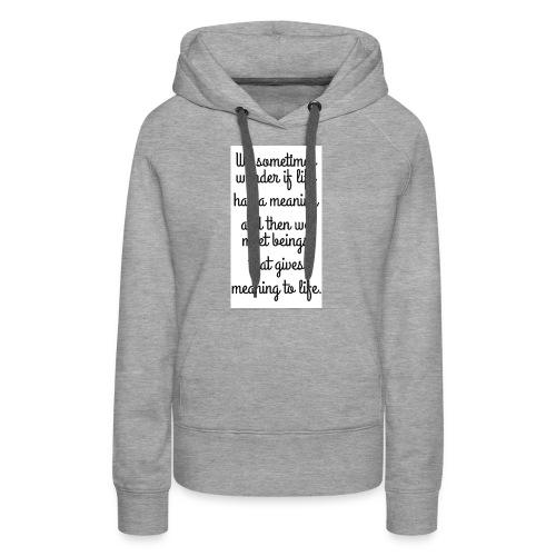 Phrase d'amour en anglais - Sweat-shirt à capuche Premium pour femmes