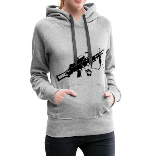 FN Minimi Para machine gun M249 SAW Kulspruta 90 - Premiumluvtröja dam