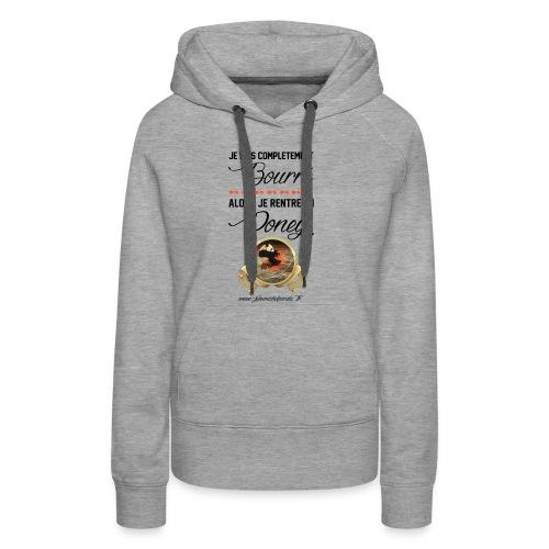Jean Michel Panda Bourré - Sweat-shirt à capuche Premium pour femmes