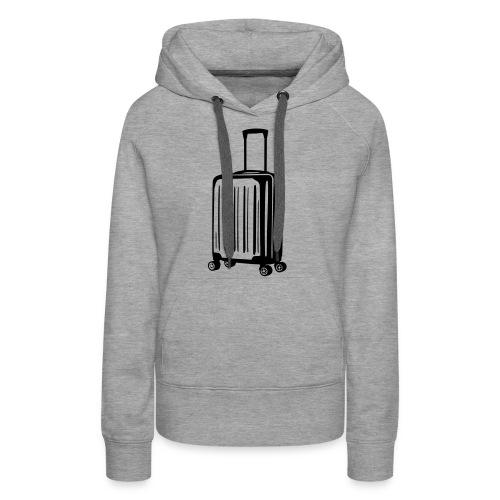 valise vectoriel - Sweat-shirt à capuche Premium pour femmes