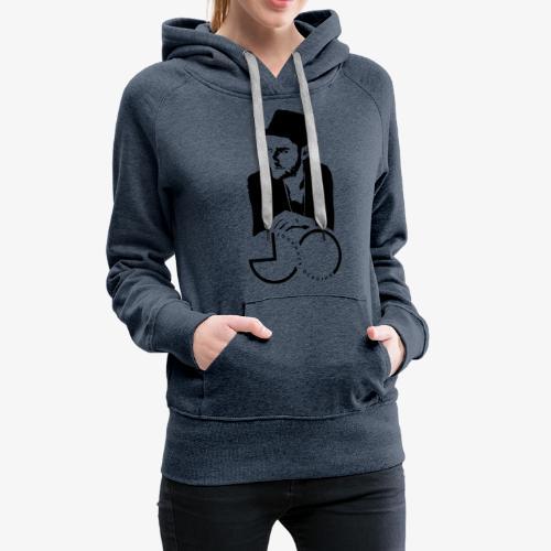 Silhouette + Logo - Frauen Premium Hoodie