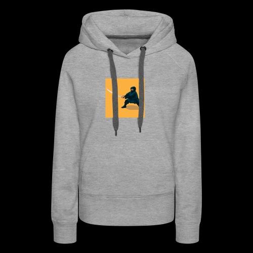 dikke ninja - Vrouwen Premium hoodie